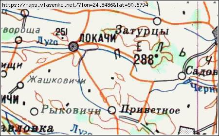 Карта Локачинського Району
