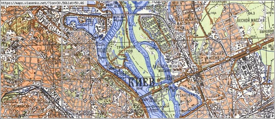 Карты Беларуси Топографические