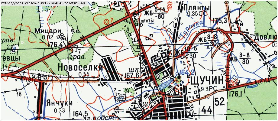 Карта ЩУЧИН, Гродненская область, Щучинский район: http://maps.vlasenko.net/by/grodnenskaya/cshuchinskij/cshuchin/