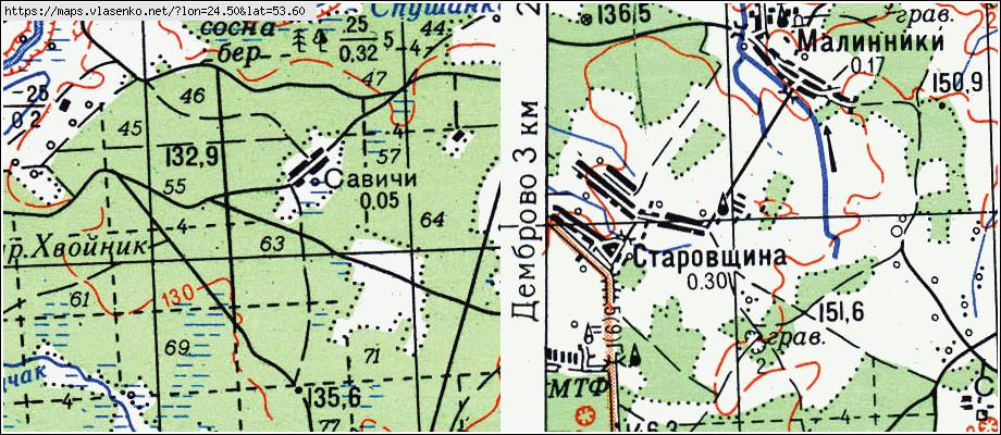 Карта ГРОДНО, Гродненская область, Гродненский район: http://maps.vlasenko.net/?lon=24.500&lat=53.600