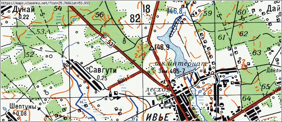 Карта ИВЬЕ, Гродненская область, Ивьевский район: http://maps.vlasenko.net/by/grodnenskaya/ivevskij/ive/