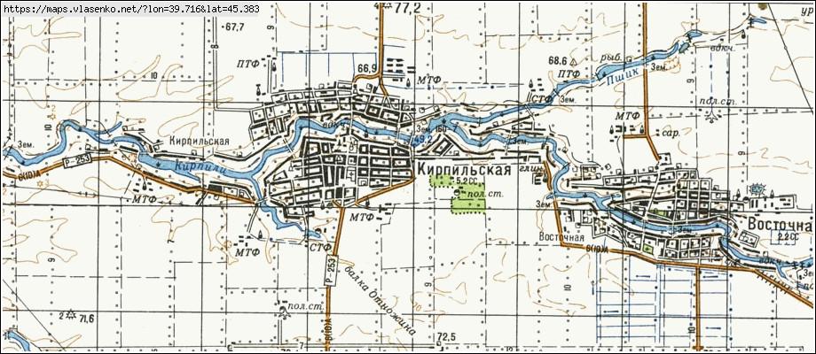 карта усть лабинского района краснодарского края Настраиваем
