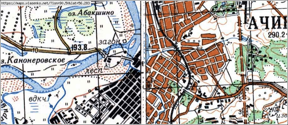 Карты Генштаба Красноярского Края