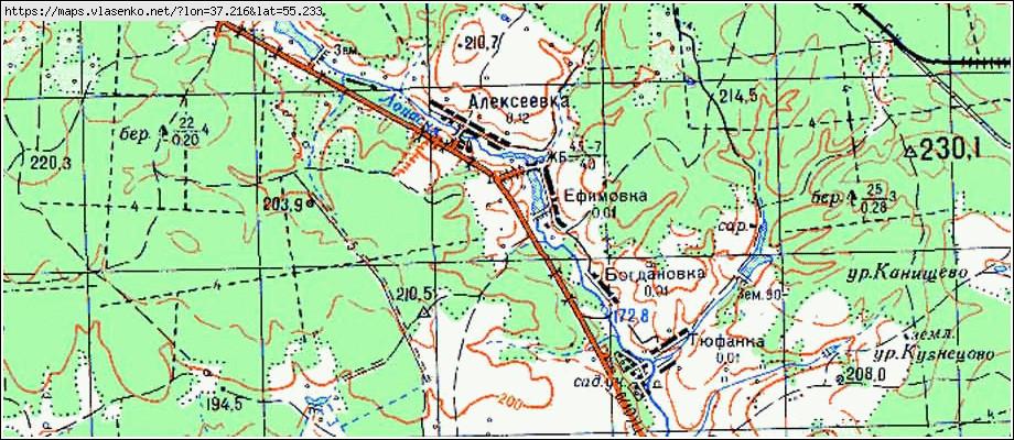 Карта асексеевка