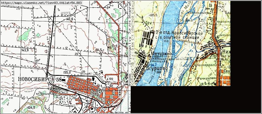 Карта новосиб юн ленинец
