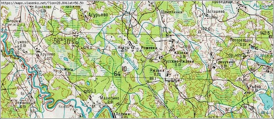 Карта наклы, псковская область, опочецкий район.