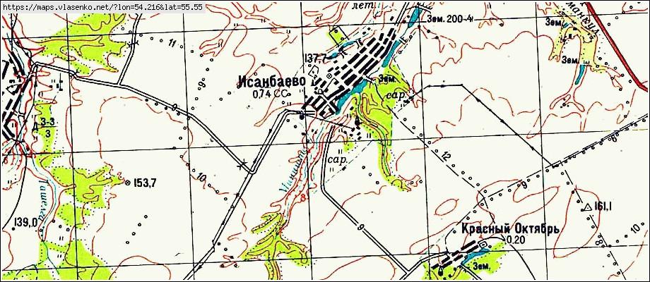 карта илишевского района