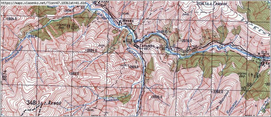 Карта Рутульского Района
