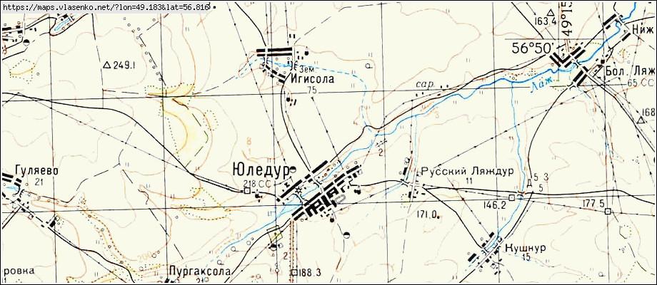 Карта юледур, республика марий эл область, куженерский район.