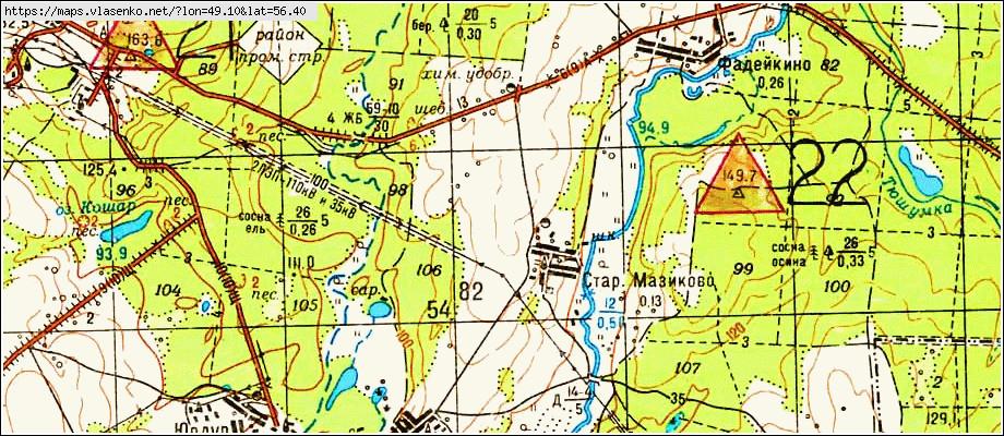 Карта старое мазиково, республика марий эл область, моркинск.