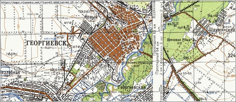 георгиевск на карте ставрополья