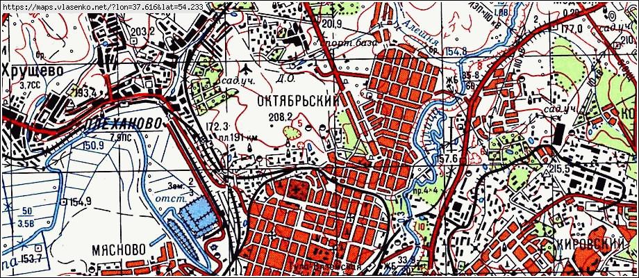 Карта тулы картинка