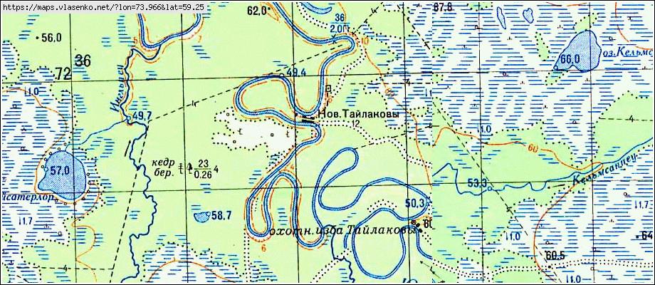 Карта Сургутского Района