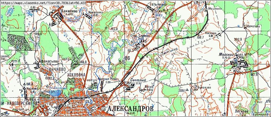 Карта Владимирской Области Топографическая