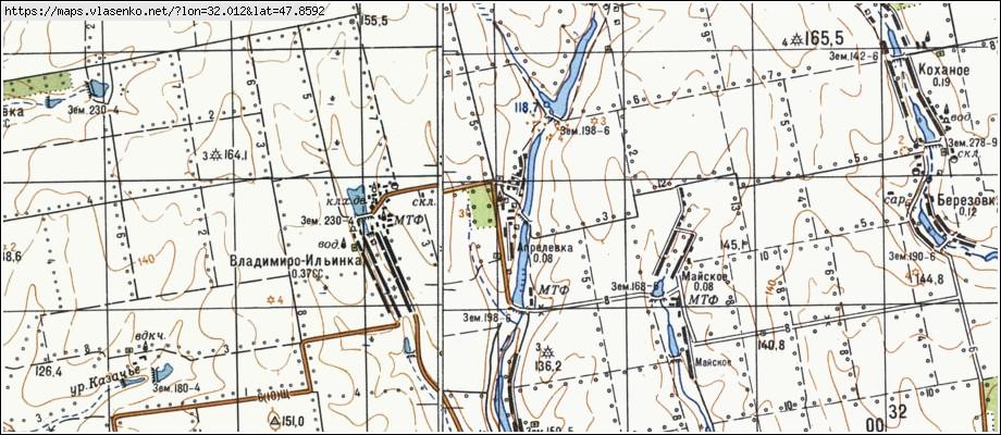 Новоархангельск на карте