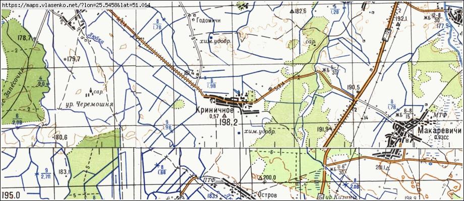 Криничная Минск Карта