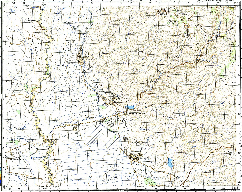 Топографические карты генштаба 1 50000